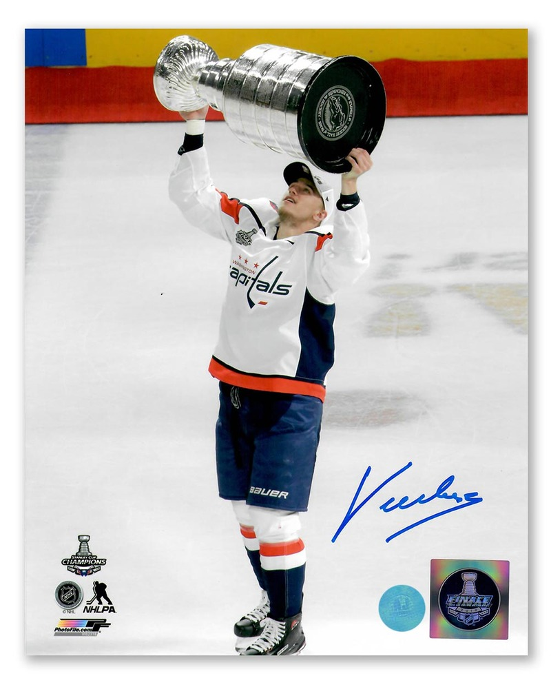 Jakub Vrana Washington Capitals Autographed 2018 Stanley Cup 8x10 Photo