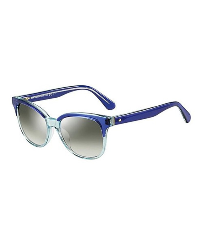 Photo of Kate Spade New York Blue Patrol & Gray Mirrored Oval Sunglasses