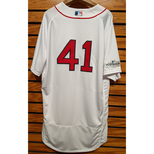 Photo of 2017 Postseason Chris Sale #41 Team Issued Home White Jersey