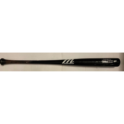 Photo of Dansby Swanson Game-Used Cracked Bat - April 25, 2021 - Ground Out