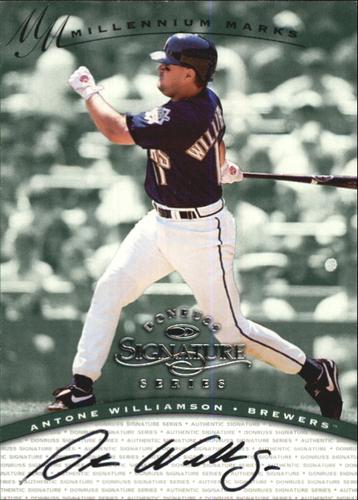 Photo of 1997 Donruss Signature Autographs Millennium #137 Antone Williamson