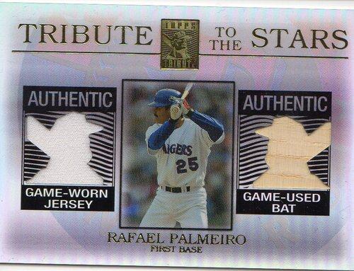 Photo of 2003 Topps Tribute Contemporary Tribute to the Stars Dual Relics #RP Rafael Palmeiro Bat-Jsy