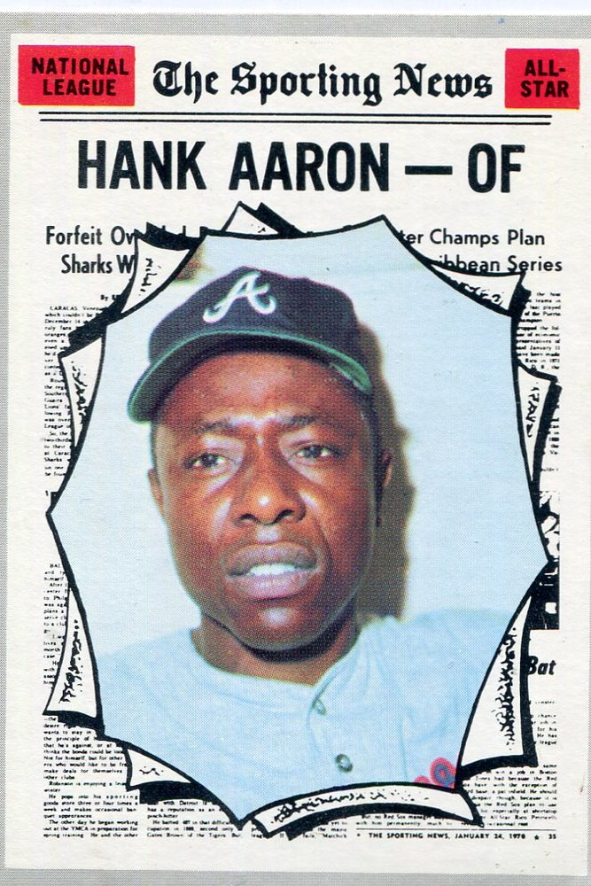 1970 Topps #462 Hank Aaron -- Hall of Famer