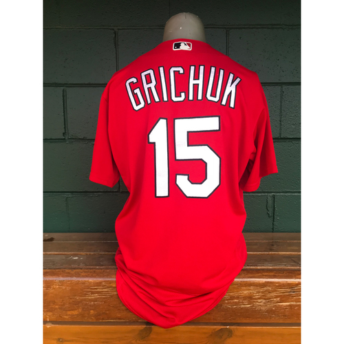 Photo of Cardinals Authentics: Randal Grichuk Issued Batting Practice Jersey