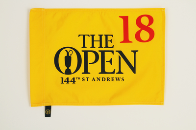 Photo of The 144th Open Official Souvenir Pin Flag - St Andrews 2015