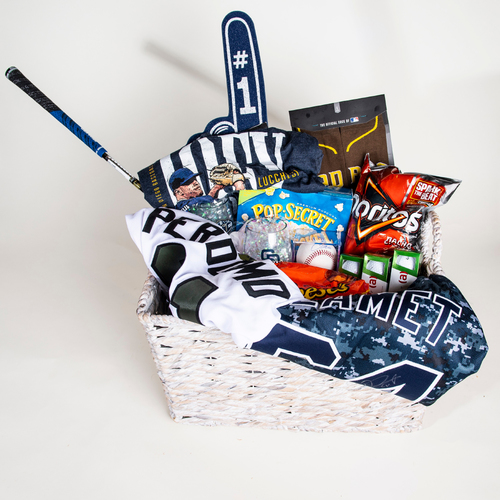 "Photo of Padres Pitchers ""Favorite Things"" Basket"