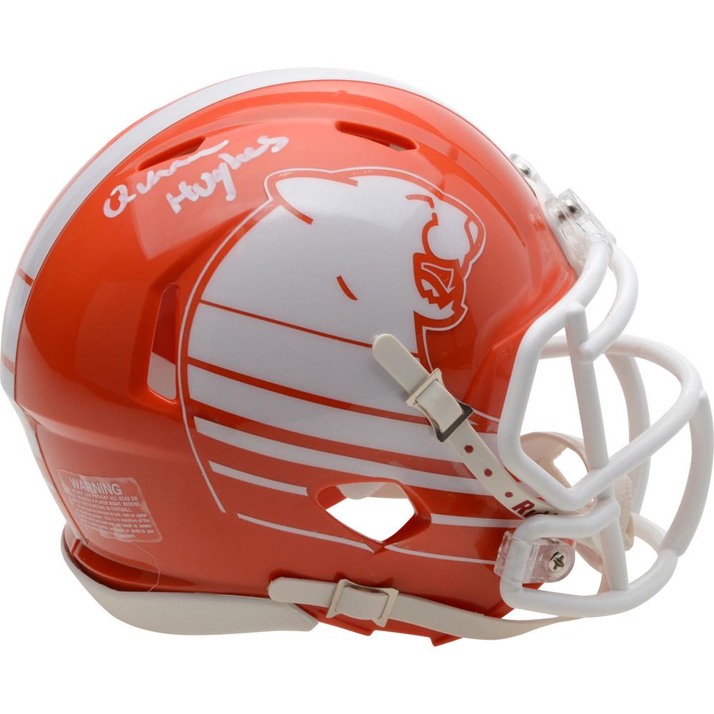 Quinn Hughes Vancouver Canucks Autographed BC Lions CFL Mini Helmet