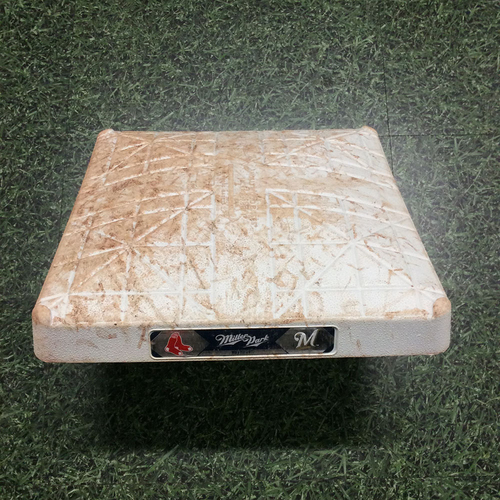 Photo of Game-Used 1st Base (INN 4-9) BOS@MIL 05/10/17