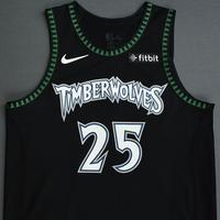 Derrick Rose - Minnesota Timberwolves - 2018-19 Season - Game-Worn Classic Edition '1998-08 Alternate' Jersey