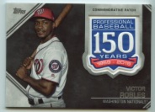 Photo of 2019 Topps Update 150th Anniversary Manufactured Patches #AMPVR Victor Robles