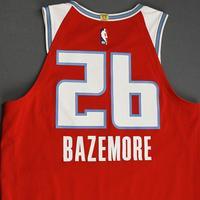 Kent Bazemore - Sacramento Kings - Game-Worn City Edition Jersey - 2019-20 Season