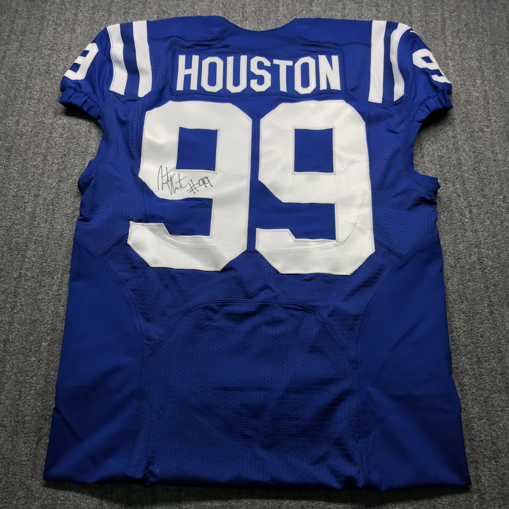 Crucial Catch - Colts Justin Houston Signed Game Issued Jersey Size 40