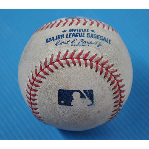 Photo of Game-Used Baseball - 2020 ALCS - Tampa Bay Rays vs. Houston Astros - Game 3 - Pitcher: Ryan Yarbrough, Batter: Jose Altuve (Home Run to LF) - Bot 1