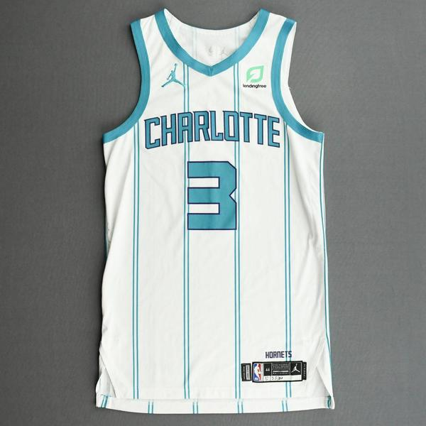 Image of Terry Rozier - Charlotte Hornets - Kia NBA Tip-Off 2020 - Game-Worn Association Edition Jersey - Scored Game and Career-High 42 Points