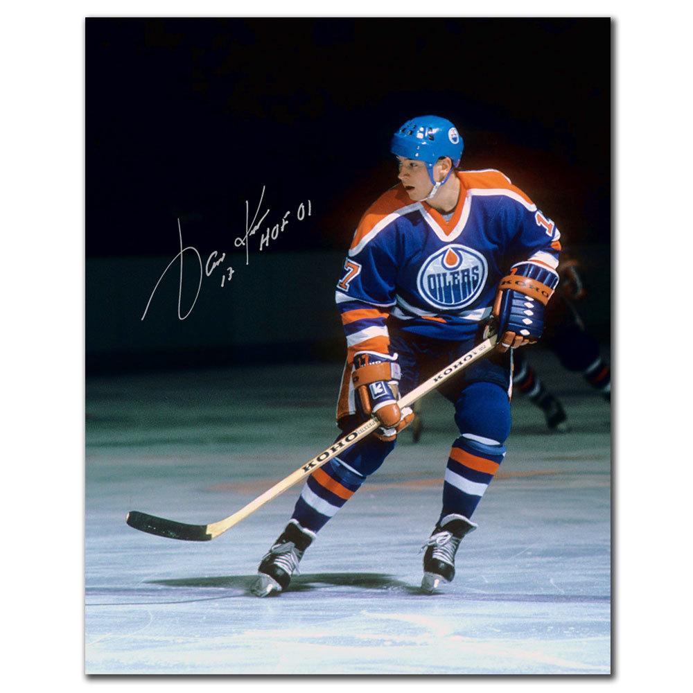 Jari Kurri Edmonton Oilers HOF Autographed 8x10