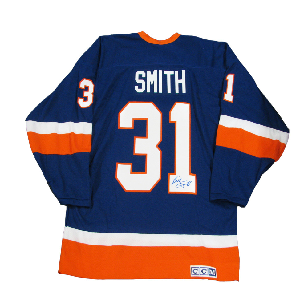 BILLY SMITH Signed Blue New York Islanders CCM Jersey