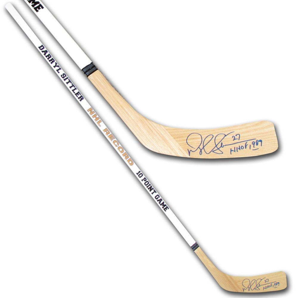 Darryl Sittler Autographed Commemorative NHL Record 10 Point Night Stick