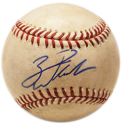 Zack Wheeler #45 - Autographed Game Used Baseball - Zack Wheeler to Marcell Ozuna - Strikeout - 1st Inning - Mets vs. Marlins - 4/25/14