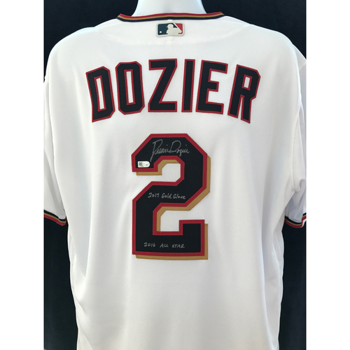 """Photo of Mauer & Friends Kids Classic Charity Auction: Brian Dozier Autographed Jersey Inscribed """"2017 Gold Glove, 2016 All-Star"""""""