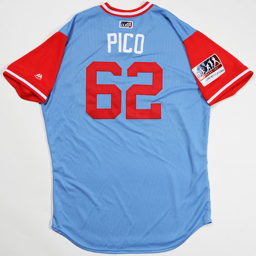"Photo of Jose ""Pico"" Leclerc Texas Rangers Game-Used 2018 Players' Weekend Jersey"