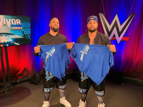 Jimmy & Jey Uso SIGNED T-Shirts (Survivor Series - 11/18/18)