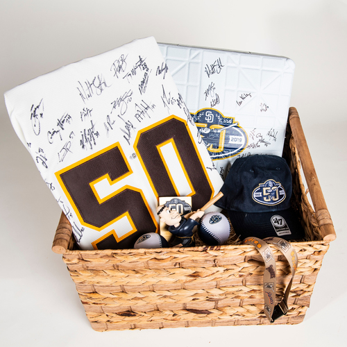 Photo of Padres 50th Anniversary Basket