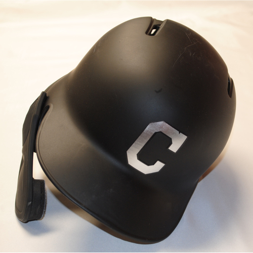 "Photo of Tyler ""Billy"" Naquin Cleveland Indians Game-Used 2019 Players' Weekend Helmet"