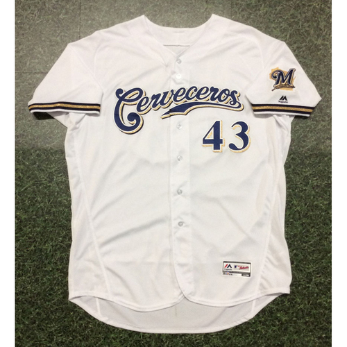 Matt Albers 2019 Game-Used Cerveceros Jersey