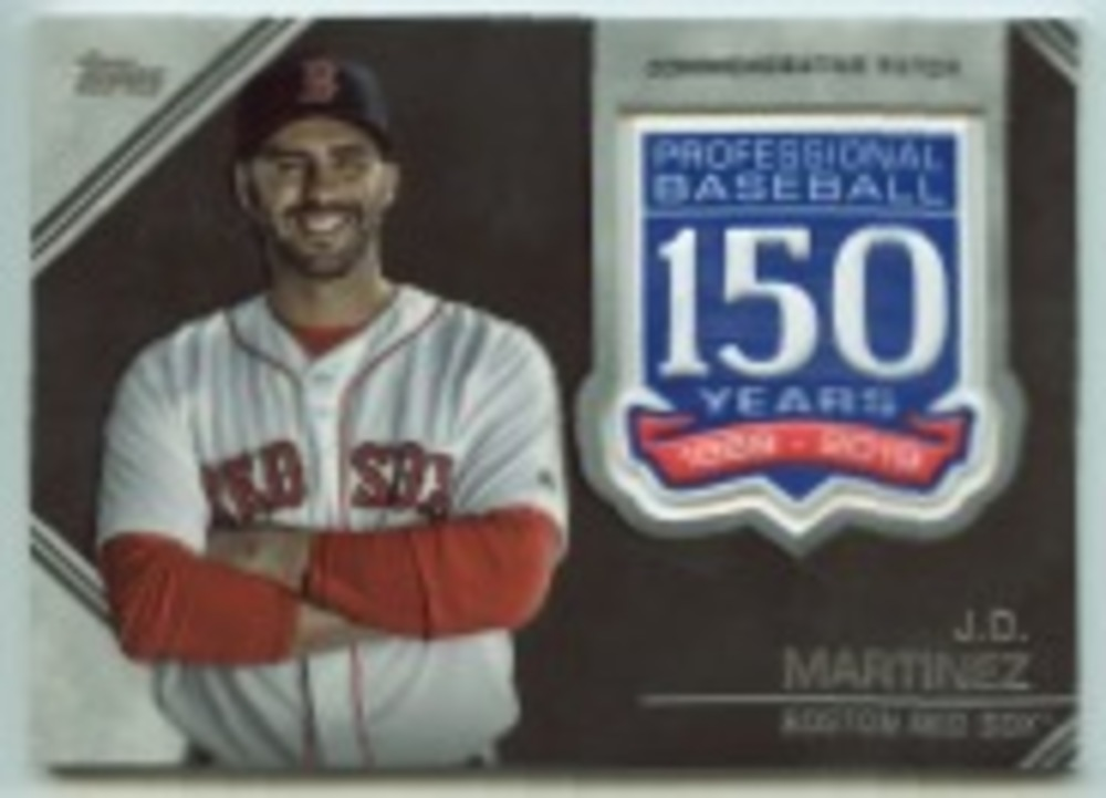 2019 Topps Update 150th Anniversary Manufactured Patches #AMPJMA J.D. Martinez