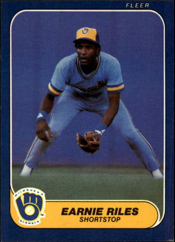 Photo of 1986 Fleer #499 Earnie Riles