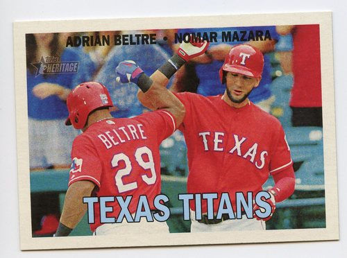Photo of 2016 Topps Heritage Combo Cards #CC7 Nomar Mazara/Adrian Beltre