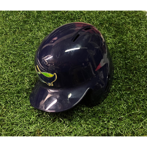Game Used Home Run Devil Rays Helmet (size 7 1/2): C.J. Cron (HR, 2RBI) - 2018: September 16 (OAK) & September 30 (TOR)