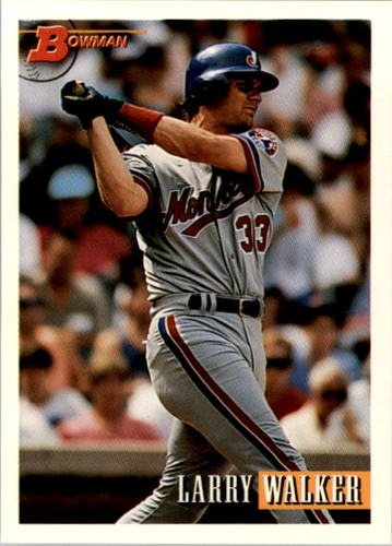 Photo of 1993 Bowman #100 Larry Walker