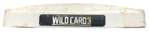 Photo of Game-Used 2nd Base -- Used in Innings 1 through 9 -- Wild Card Series Game 2 - Marlins vs. Cubs -- 10/2/20