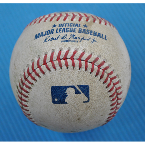 Photo of Game-Used Baseball - 2020 ALCS - Tampa Bay Rays vs. Houston Astros - Game 4 - Pitcher: Tyler Glasnow, Batter: Kyle Tucker (Strikeout Swinging) - Bot 4