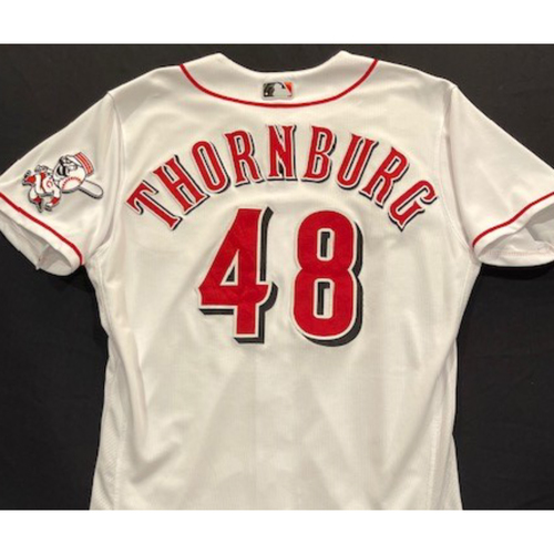 Photo of Tyler Thornburg -- 2020 Home White Jersey -- Team Issued -- Size 44