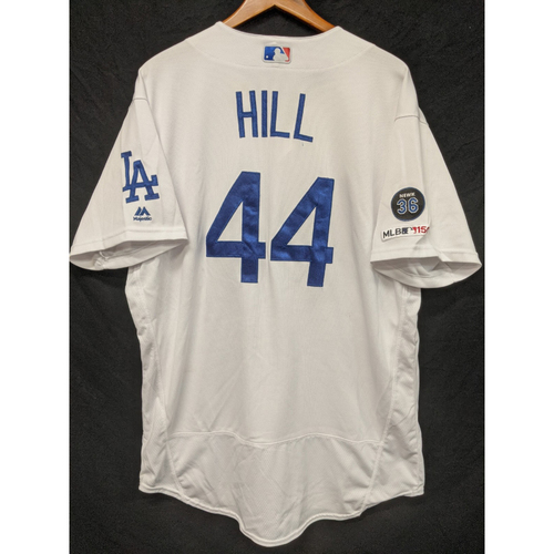 Photo of Rich Hill Game-Used Home Jersey, Last Home Game of 2019