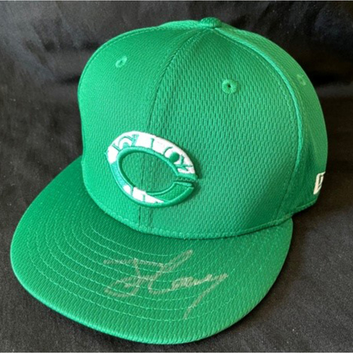 Photo of Jonathan India -- 2021 St. Patrick's Day Cap (Cap & Autograph NOT MLB Authenticated) -- Size 7 1/8