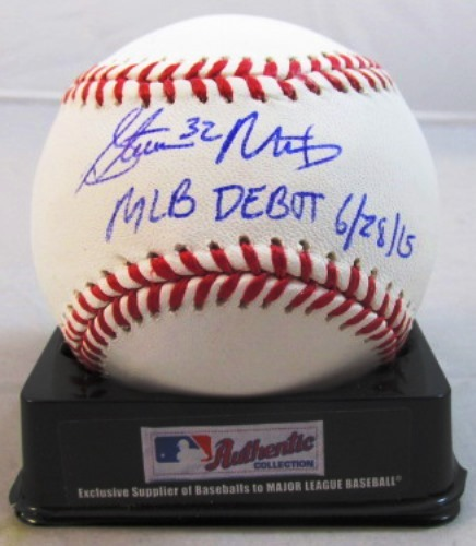 "Photo of Steven Matz Autographed ""MLB Debut"" Baseball"