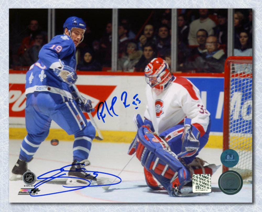 Joe Sakic vs Patrick Roy Dual Signed Battle of Quebec vs Montreal 8x10 Photo
