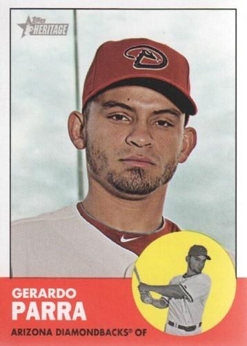 Photo of 2012 Topps Heritage #449 Gerardo Parra SP