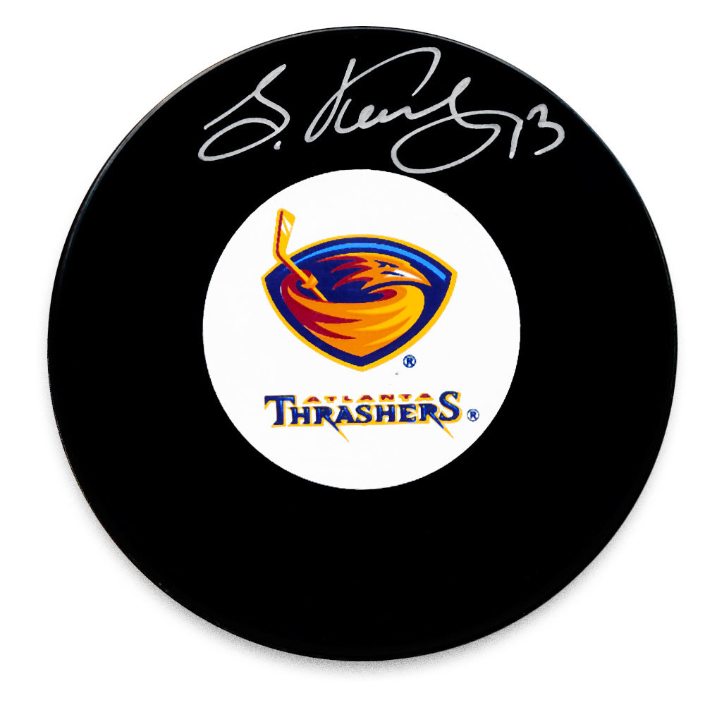 Slava Kozlov Atlanta Thrashers Autographed Puck