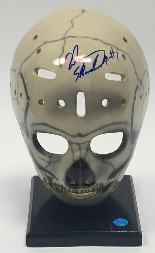Warren Skorodenski Chicago Blackhawks Autographed Full Size Skull Goalie Mask
