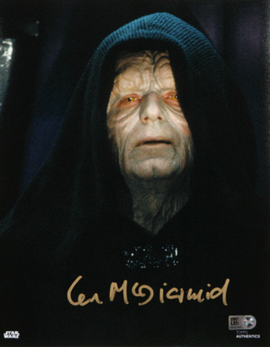 Ian McDiarmid as Emperor Palpatine 8x10 Autographed In Gold Ink Photo
