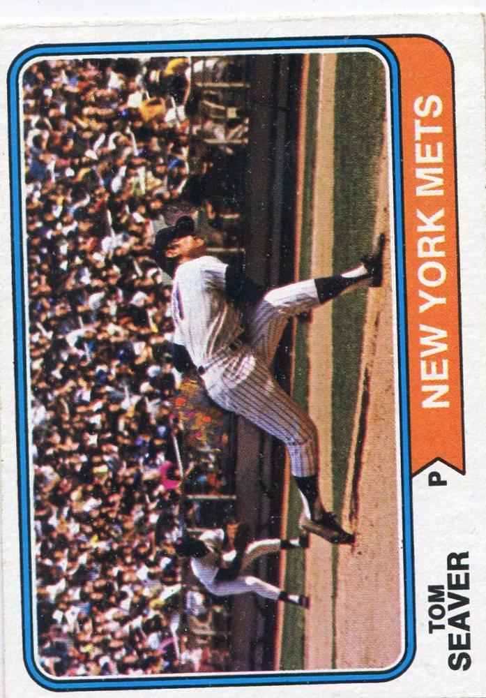 1974 Topps #80 Tom Seaver -- Hall of Famer