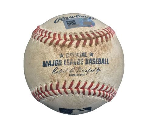 Game-Used Baseball from Pirates vs. Cubs on 4/26/17 - Glasnow to Rizzo, 2 Pitches