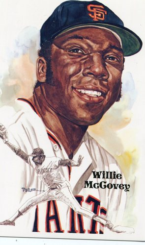 Photo of 1980-02 Perez-Steele Hall of Fame Postcards #196 Willie McCovey -- HOF Class of 1986
