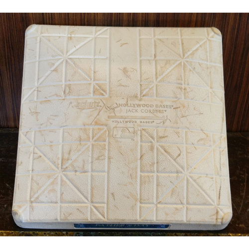 2017 Father's Day Second Base: Game-Used