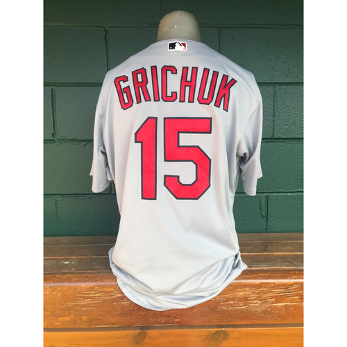 Photo of Cardinals Authentics: Randal Grichuk Issued Road Grey Jersey