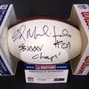 NFL - Ravens Edwin Mulitalo Signed Panel Ball w/ Super Bowl 35 Inscription